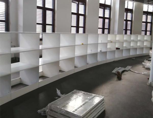 图书馆圆形钢制组装书架