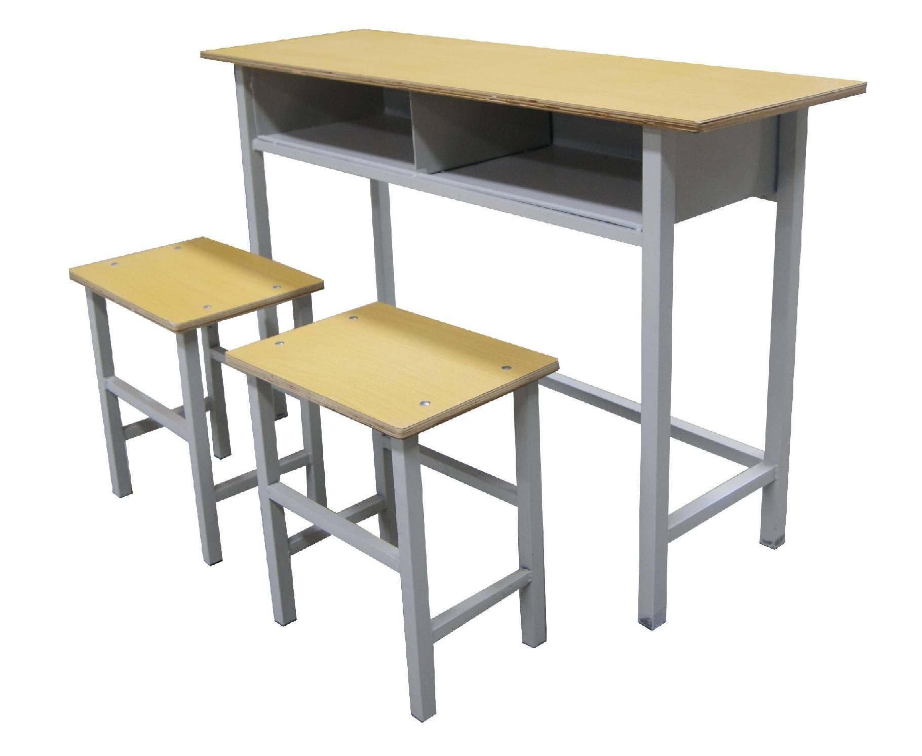 双人钢木课桌凳